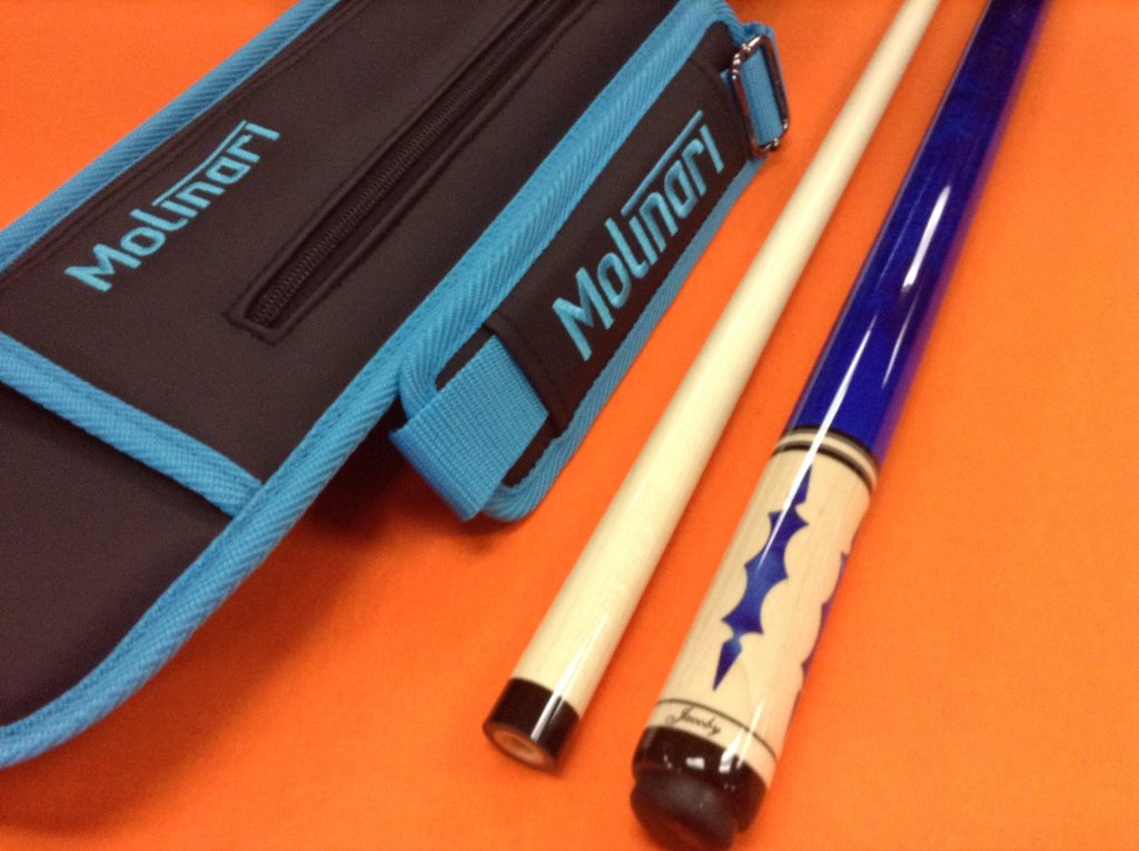 JACOBY POOL CUE MAG BLUE WITH MOLINARI CASE